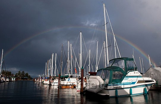Photo of New Year's Rainbow At Beachcomber Marina