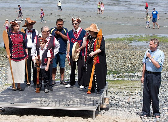 Photo of Qualicum First Nation Beach Blessing