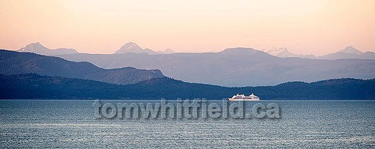 Photo of cruise ship near Parksville, BC