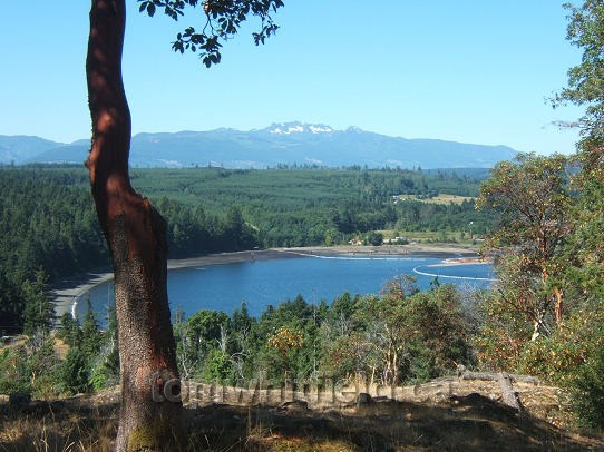 Photo of Mount Arrowsmith from across Northwest Bay