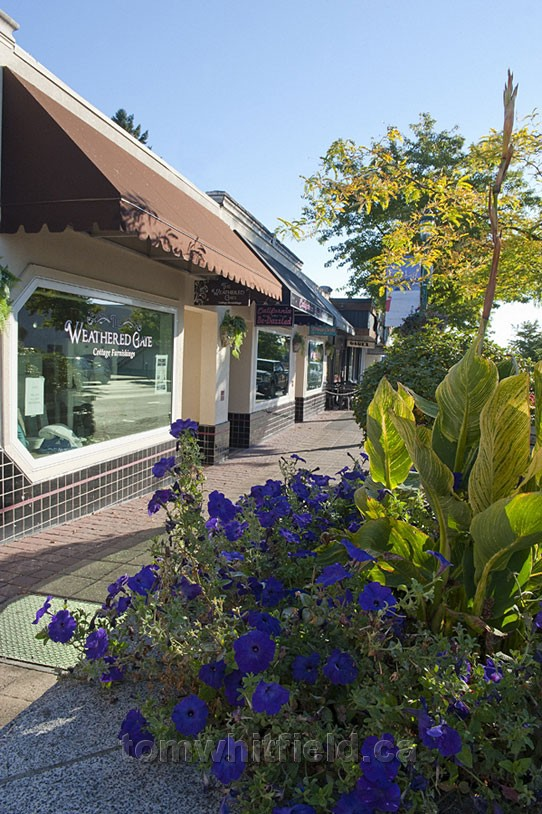 Photo of Qualicum Beach Sidewalk And Shops