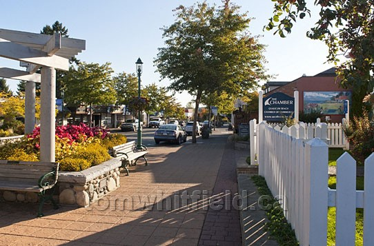 Photo of Qualicum Beach Village Centre Sidewalk And Shops
